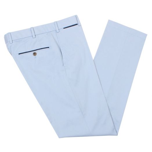 Light Blue Cotton Chino
