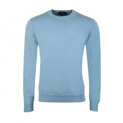 Sky Blue Moss Crew Neck Jumper