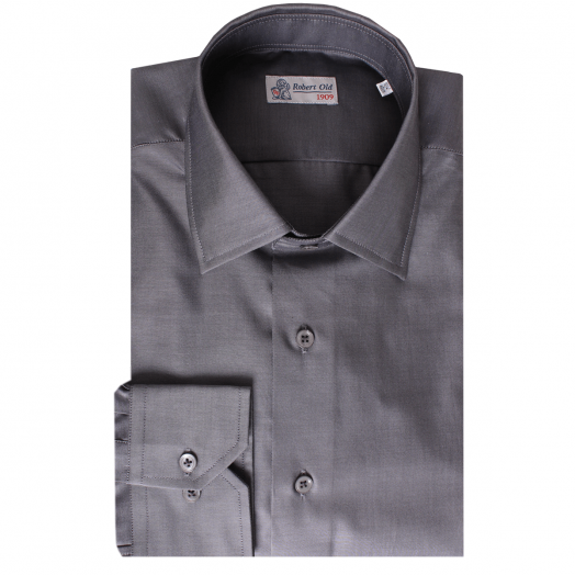 Charcoal Pure Cotton Long Sleeve Shirt