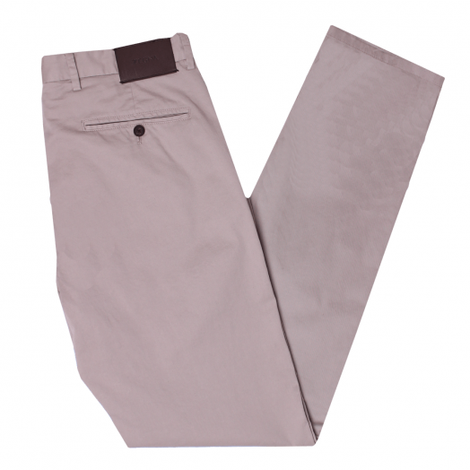 Beige Slim Fit Stretch Cotton Chino Trousers