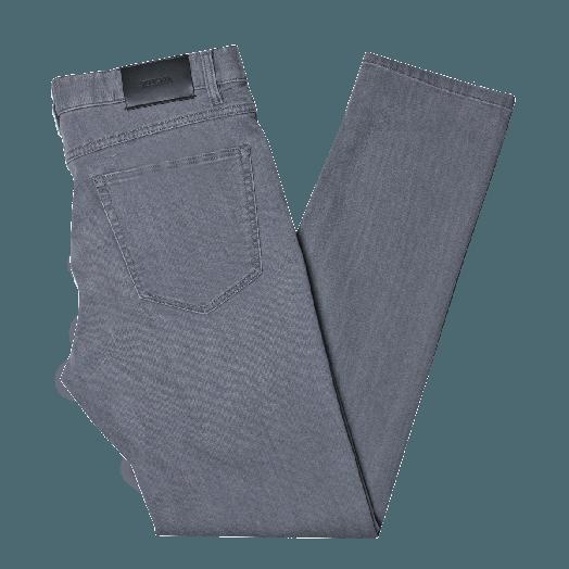 Grey Slim Fit Stretch Cotton Jeans