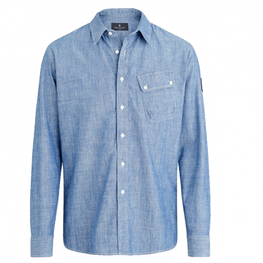 Indigo Cotton Pitch Shirt