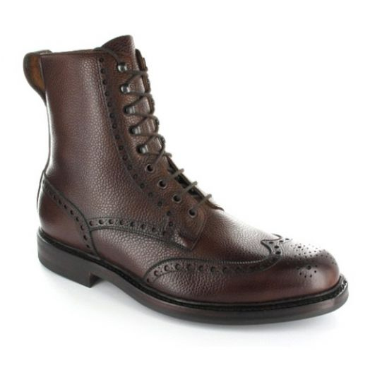 Islay Dark Brown Scotch Country Grain Boots