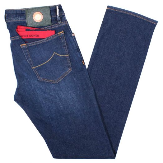 Mid Blue J688 Slim Fit Jeans