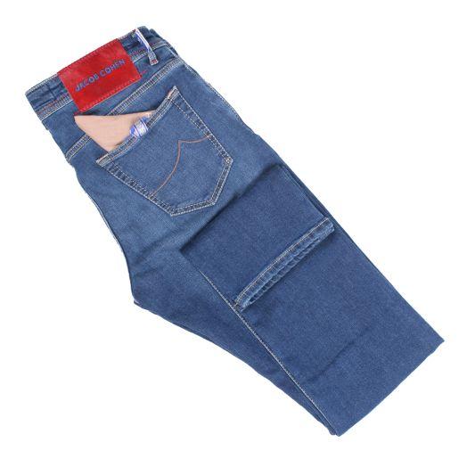 Mid-Blue 'Bard – J688' Slim Fit Jeans