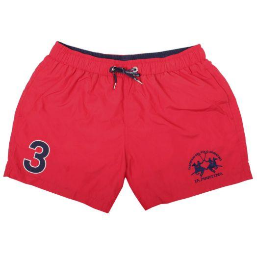 Cherry Red 'Micheal' Swim Shorts