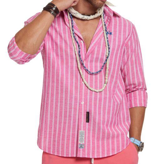 Azalea Pink & Optic White Striped Shirt