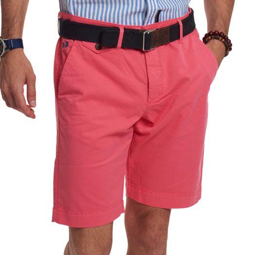 Coral Bermuda Stretch Slim Fit Chino Shorts