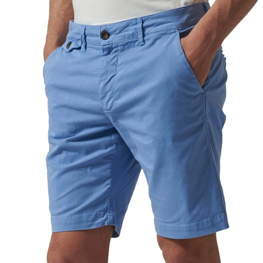 Cornflower Blue Bermuda Stretch Slim Fit Chino Shorts
