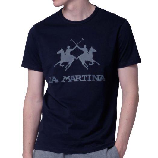 Dark Navy Logo Print T-Shirt