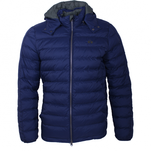 Navy Outdoor Nylon Puffer Jacket
