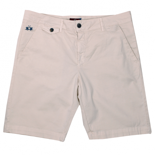 Silver Green Bermuda Stretch Slim Fit Chino Shorts