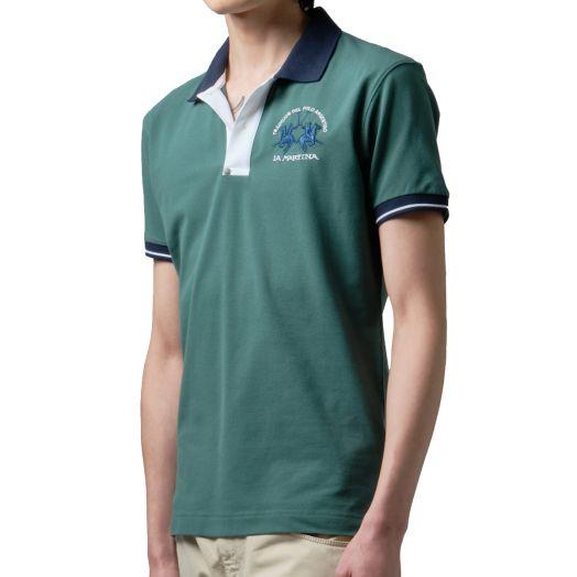 Smoke Pine Slim Fit Stretch Cotton Polo Shirt