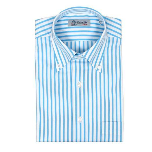Light Blue & White Stripe Premium Cotton Shirt