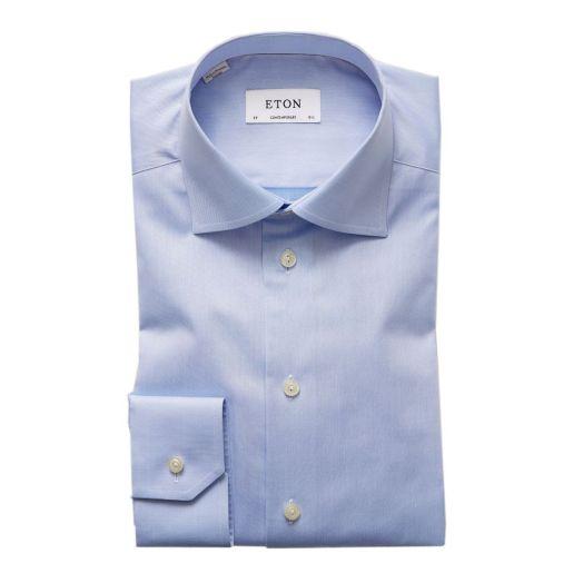 Light Blue Signature Twill Contemporary Fit Shirt