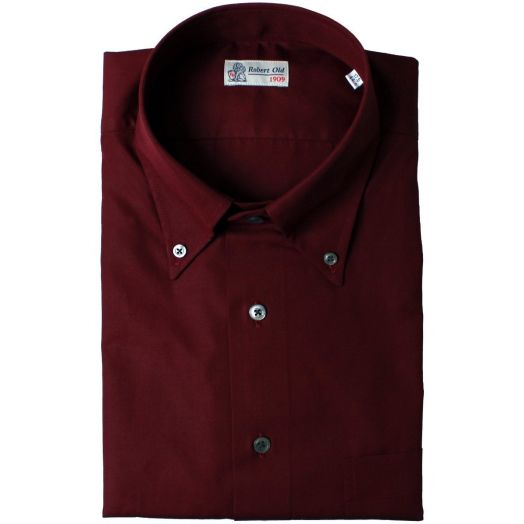 Maroon with Contrast Buttons Premium Cotton Shirt
