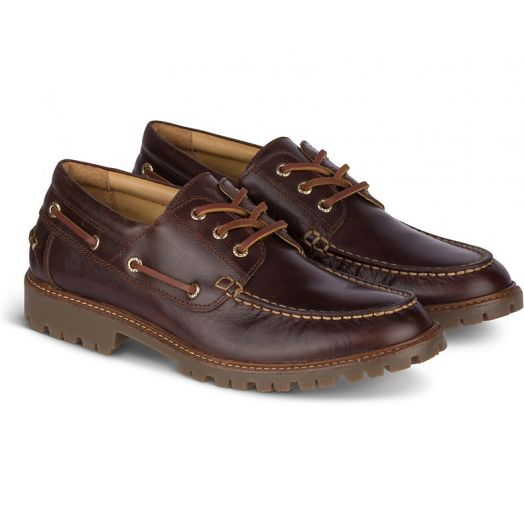 Brown Men's Gold Cup Authentic Original 3-Eye Lug Boat Shoe