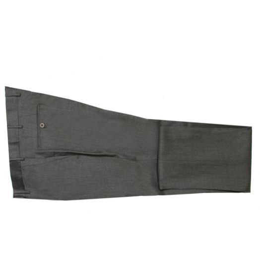 Mid Grey Wool Regular Fit Trousers
