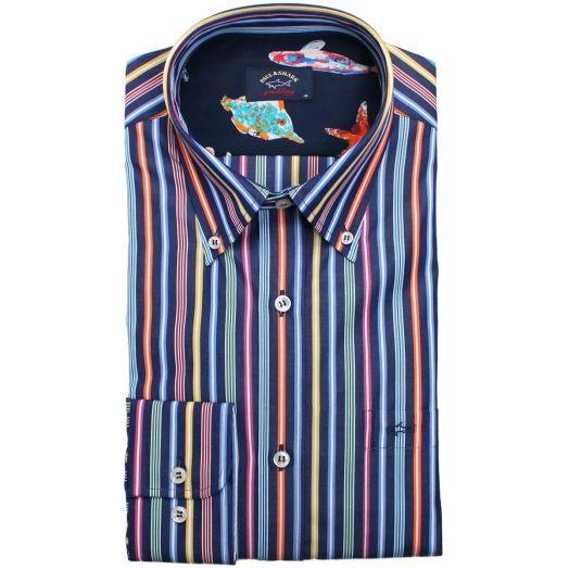 Multi Stripe Button-Down Shirt