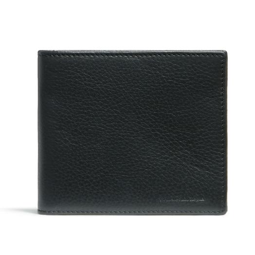 Navy Billfold Leather Wallet