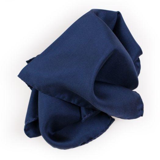 Navy Blue Silk Pocket Square