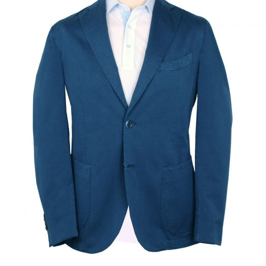 Navy Cotton & Silk Unlined Jacket