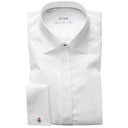White Twill Evening Slim Fit Shirt