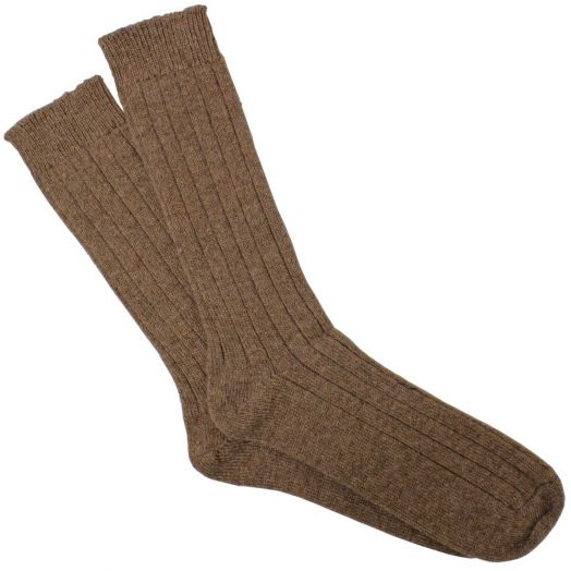 Otter Ribbed Cashmere Blend Socks