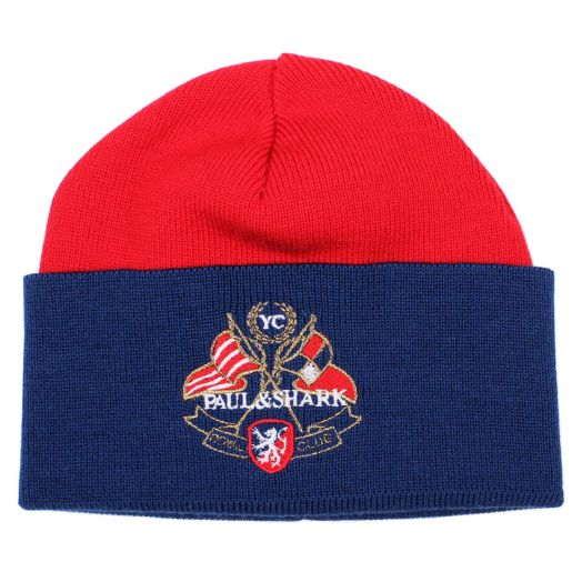 Navy & Red Yachting Beanie Hat