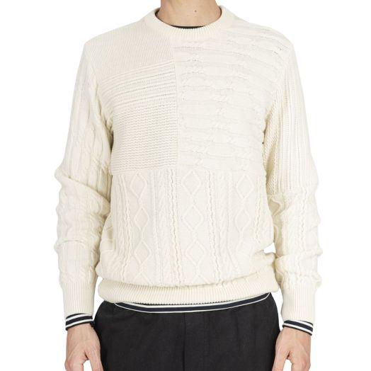 Cream Eco-Merino Wool Fisherman Sweater
