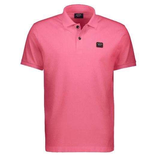 Fuchsia Organic Cotton Logo Polo Shirt