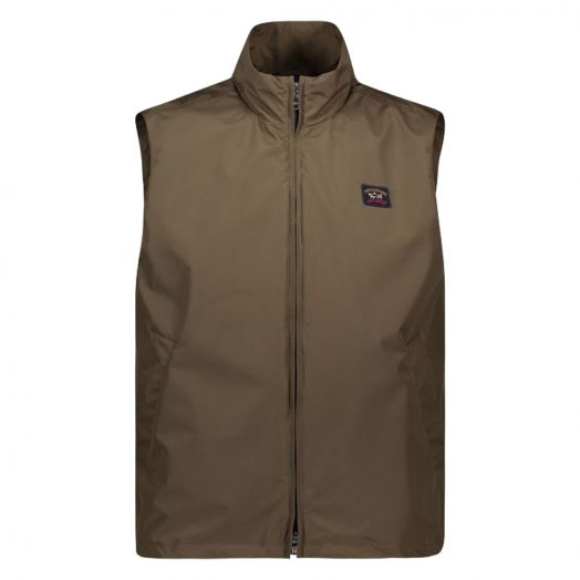 Military Green Technical Fabric Gilet