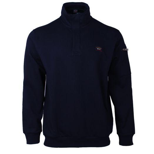 Navy Organic Cotton Half Zip Sweater
