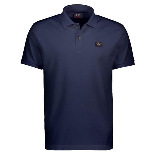 Navy Organic Cotton Logo Polo Shirt