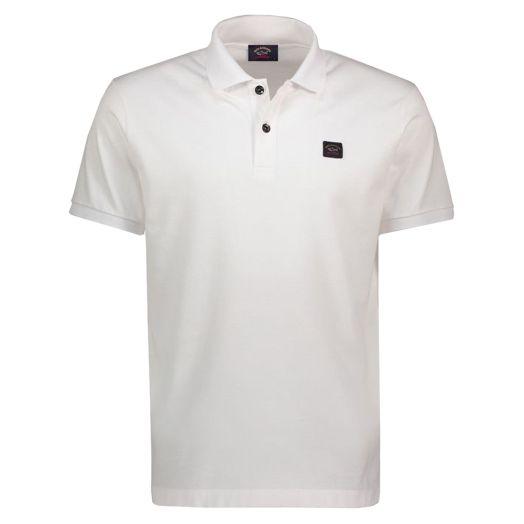 White Organic Cotton Logo Polo Shirt