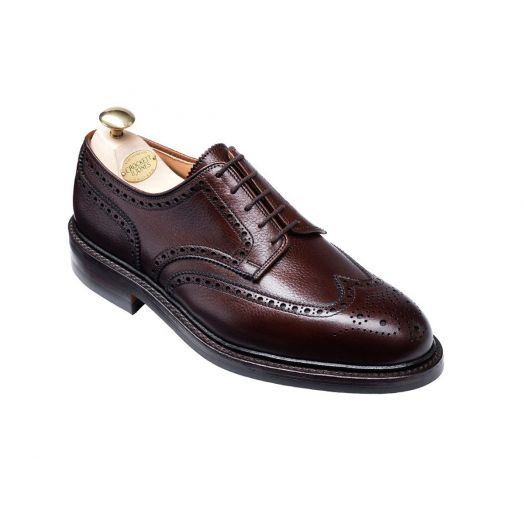 Pembroke Dark Brown Scotch Grain Shoes
