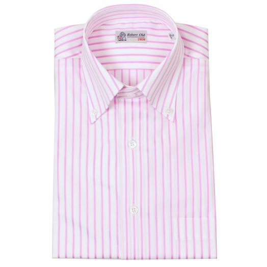 Pink and White Stripe Button Down Shirt
