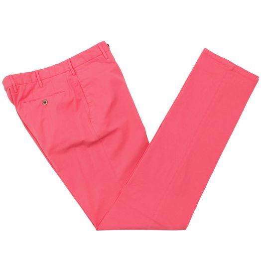 Pink Stretch Cotton Classic Chinos