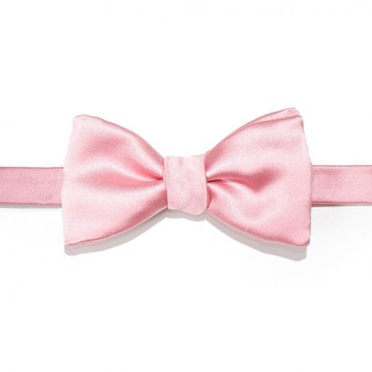 Light Pink Silk Bow Tie