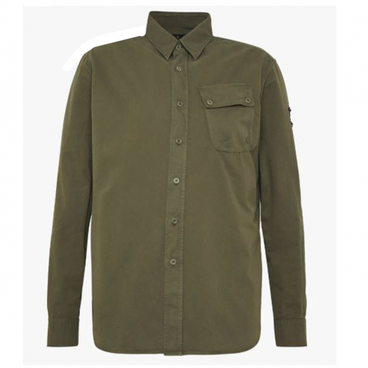 Sage Green Twill Woven Pitch Shirt