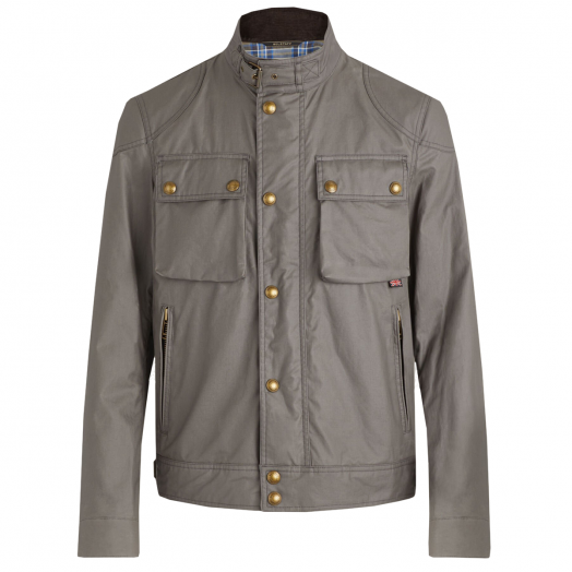 Dusk Grey Racemaster Waxed Jacket