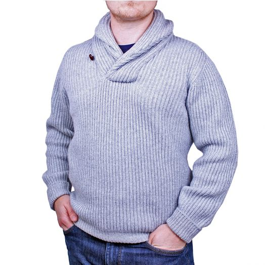 The Torridon 8Ply Cashmere Shawl Collar Pullover