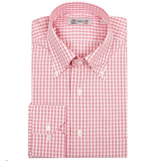 Red Check Swiss Cotton Shirt