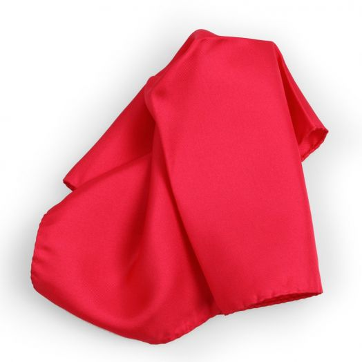 Bright Red Silk Pocket Square