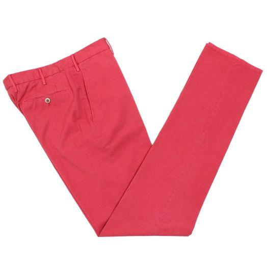 Red Stretch Slim Cotton Chino