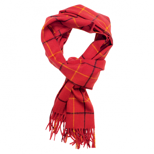 Red Tattersall Cashmere Scarf