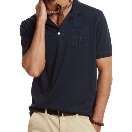 Denim Navy regular-fit cotton-blend polo shirt