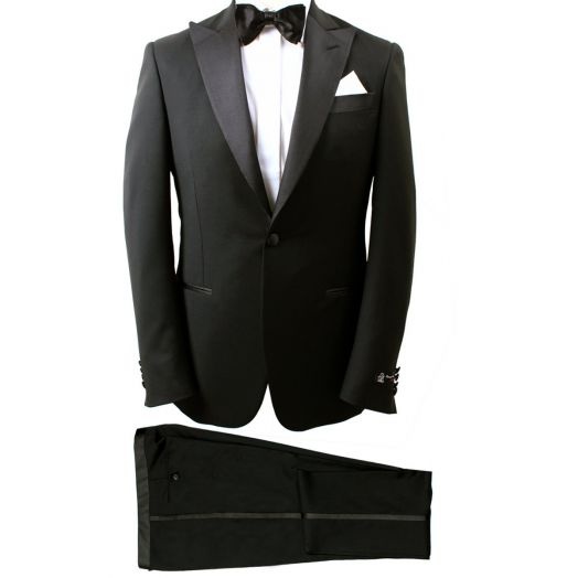 Black Wool Blend Tuxedo