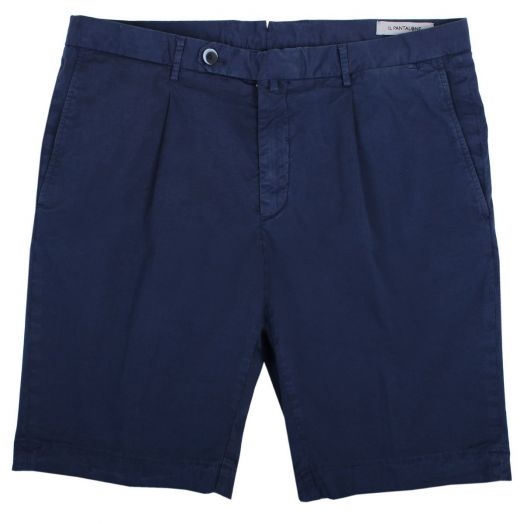 Classic Navy Cotton Stretch Chino Shorts