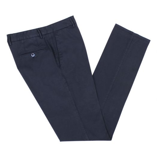 Navy Regular Fit Stretch Cotton Chino
